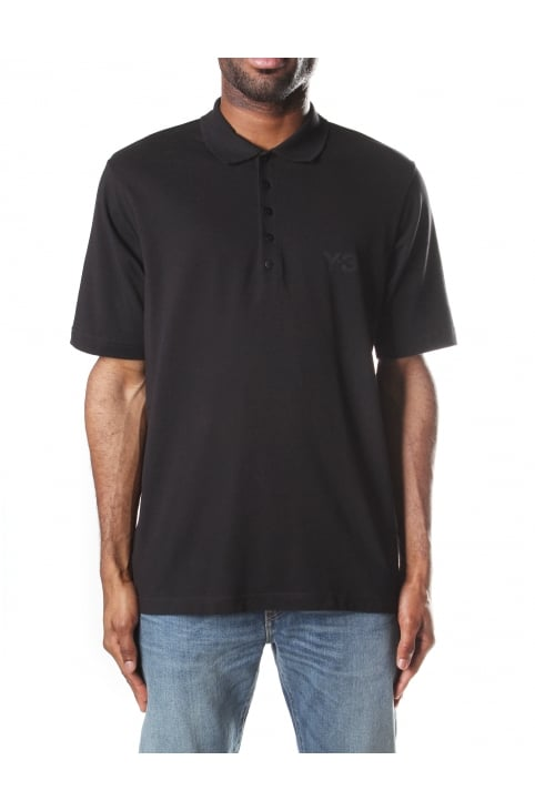5B Short Sleeve Men's Polo Top Black