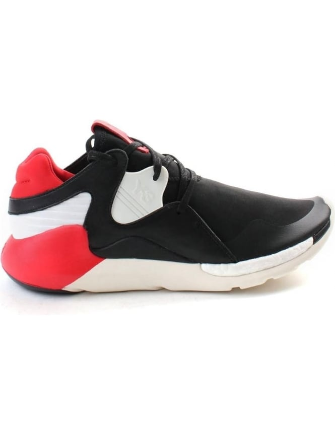 Y-3 Boost QR Men's Lace Up Trainer Black/Red