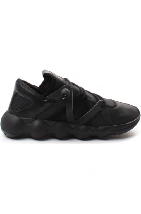 Kyujo Men's Low Lace Up Trainer Black