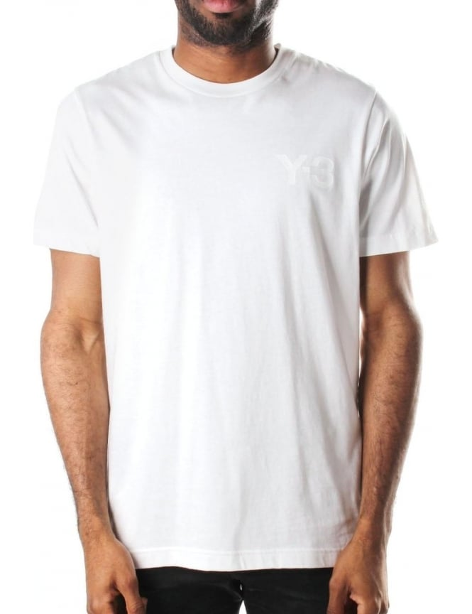 Y-3 Logo Print Men's Crew Neck T-Shirt White