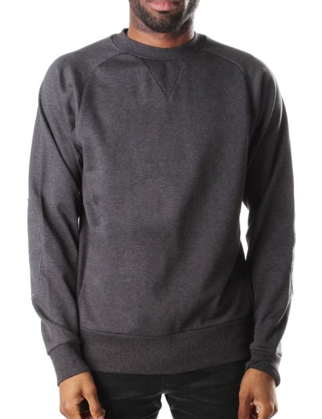 Y-3 Men's Crew Neck Sweat Top Charcoal