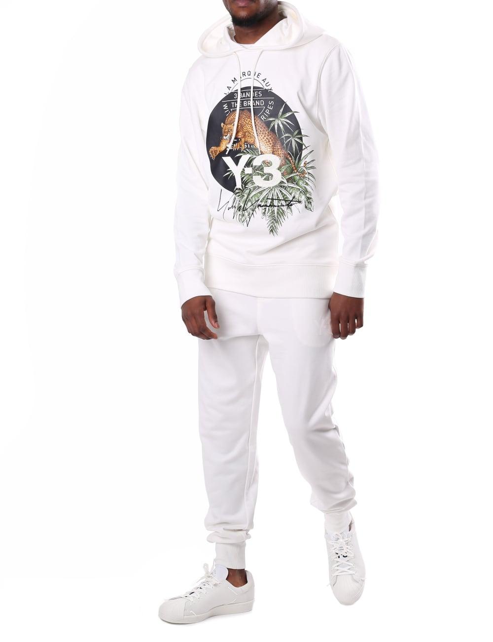 133ab66e5ea1 Y-3 Adidas Men s Leopard Logo Hoodie