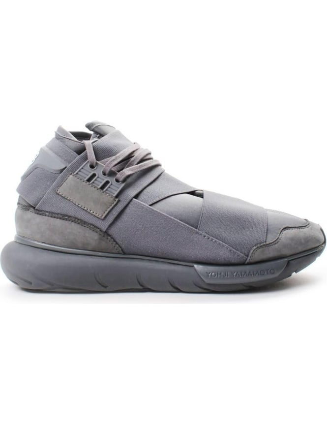 Y-3 Qasa High Men's Lace Up Trainer Grey