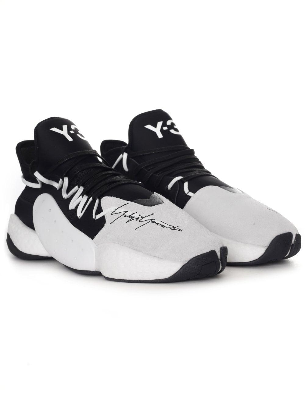 ada10fafa2547 Men s Y3 Adidas BYW BBall Trainers White Black