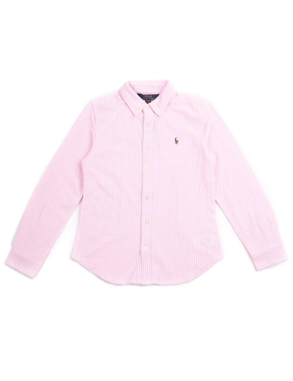 44ade8a74 Polo Ralph Lauren Youth Girls Striped Long Sleeve Shirt