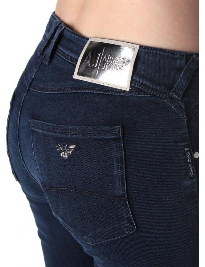2220f85cf2 Armani Jeans Z5J28 Medium Waist Women's Skinny Fit Jean Indigo