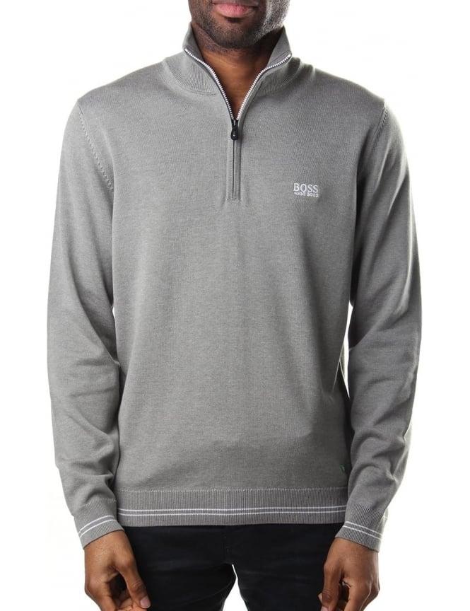 2b1d6c43d9e Boss Athleisure Zime Half Zip Pullover Men's Knit Light Grey