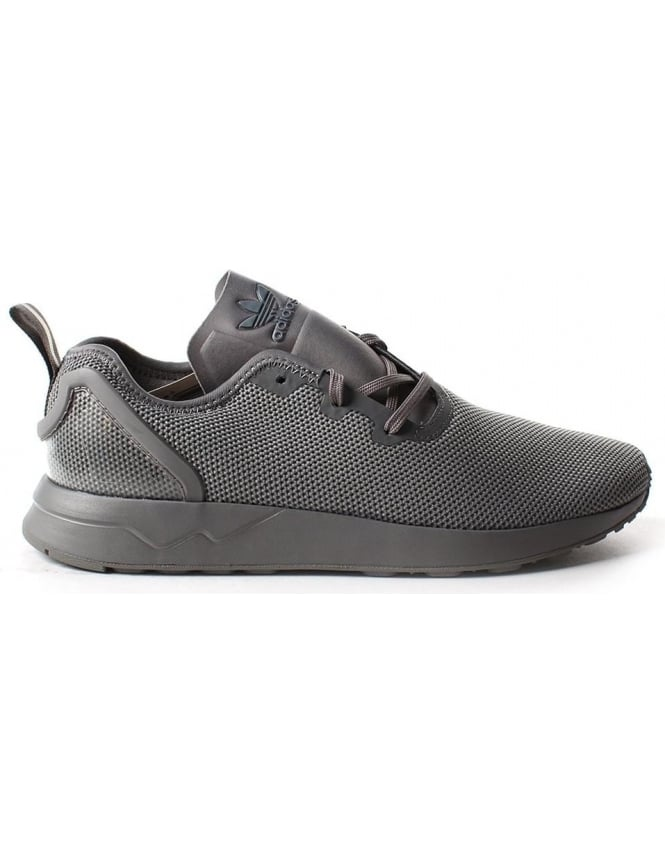 best service c9293 6f7ca Adidas ZX Flux ADV Asymmetrical Men's Mesh Lace Up Trainer Grey